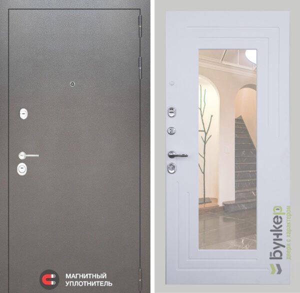 Серия «SILVER» модель №44 белый софт с зеркалом